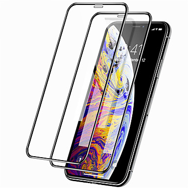 voordelige iPhone screenprotectors -Apple screen protector voor iPhone 11/11 pro / 11 pro max 9h hardheid front screen protector 2 stks gehard glas iphone x / xs / xr / xs max