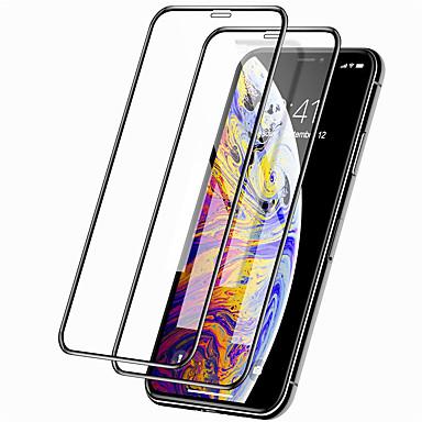voordelige iPhone screenprotectors-Apple screen protector voor iPhone 11/11 pro / 11 pro max 9h hardheid front screen protector 2 stks gehard glas iphone x / xs / xr / xs max