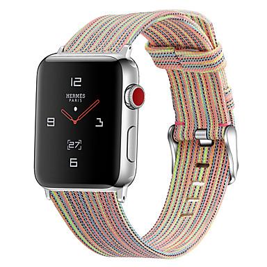 voordelige Smartwatch-accessoires-horlogeband voor Apple Watch-serie 5/4/3/2/1 Apple klassieke nylon polsband met gesp