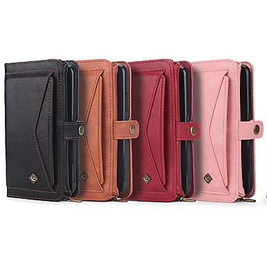 voordelige iPhone-hoesjes-multifunctionele drievoudige portemonnee lederen tas voor iPhone 11 pro max xr xs max 8 plus 7 plus 6 plus schokbestendige effen gekleurde covers