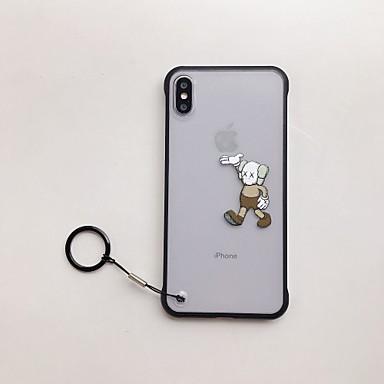 voordelige iPhone 6 Plus hoesjes-hoesje Voor Apple iPhone XS / iPhone XR / iPhone XS Max Schokbestendig / Ultradun / Doorzichtig Achterkant Spelen met Apple-logo / Cartoon TPU
