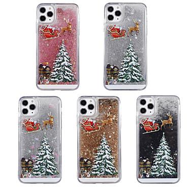 voordelige iPhone 6 hoesjes-hoesje Voor Apple iPhone 11 / iPhone 11 Pro / iPhone 11 Pro Max Stromende vloeistof / Patroon / Glitterglans Achterkant Kerstmis TPU