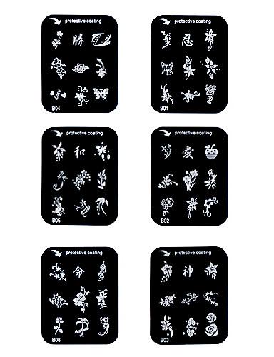 ongles timbre d'art estampage modèle de plaque d'image série b
