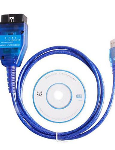 economico Nuovi Arrivi-vag KKL USB + per Fiat ECU di esplorazione diagnostica strumento di interfaccia obd2 comaptible con il circuito integrato originale FT232RL