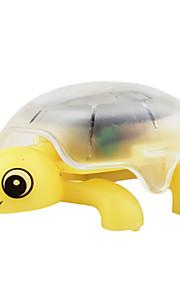 solar mini krystal kravle skildpadde gul