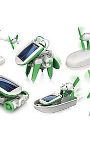 6 In 1 Robot Legetøjsbiler Soldrevet legetøj Space Toys Videnskabs- og ingeniørlegetøj Legetøj Soldrevet Stk. Drenge Pige Gave