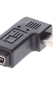 Mini USB Male naar Mini USB vrouwelijke adapter