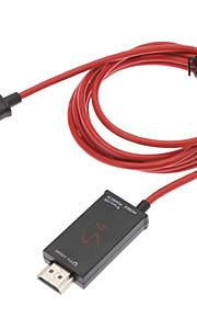 MHL a HDMI cavo adattatore per Samsung Galaxy S3 I9300, i9500 S4 e la nota 2 N7100