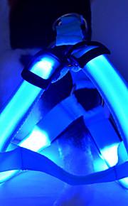 Собака Ремни Светодиодные фонарики Регулируется / Выдвижной Однотонный Нейлон Желтый Красный Зеленый Синий Розовый