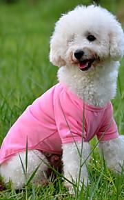 Hund T-shirt Hundekleidung Solide Gelb Rot Grün Blau Rosa Baumwolle Kostüm Für Haustiere