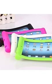 Case Kompatibilitás iPad 4/3/2 Ütésálló Állvánnyal Fekete tok Tömör szín Szilikon mert iPad 4/3/2