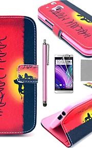 Para Funda HTC Soporte de Coche / Cartera / con Soporte / Flip Funda Cuerpo Entero Funda Palabra / Frase Dura Cuero Sintético HTC