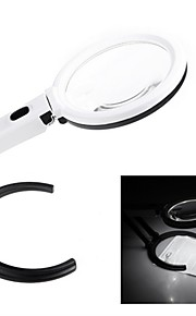 2X / 5X Plug-in Desk-type or Handheld Dual-purpose Magnifier with 10 LED Lights (2 x AA)