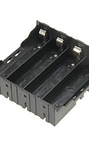 diy 4-slot 18650 batterijhouder met spelden - zwart
