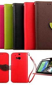 HTC 하나 (M8) (모듬 색상)에 대한 스탠드와 스타일러스 karzea ™ 잎 혼합 색상 TPU 가죽 전신
