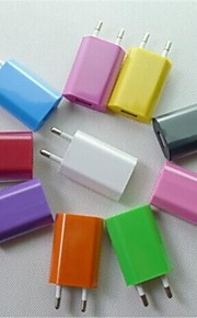 EU AC Plug to USB2.0 Travel Charger Adapter for iPhone 6 iPhone 6 Plus/Samsung and Others (Assorted Colors)