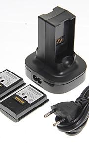 Batterijen en Opladers Voor Xbox 360,Muovi Batterijen en Opladers Vast
