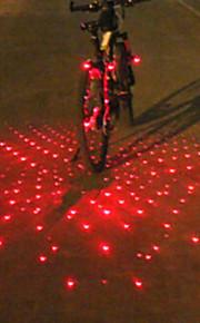 אורות קצה הבר / פנס אחורי לאופניים / אורות בטיחות לייזר / LED פנסי אופניים רכיבת אופניים Alarm, אור LED, כלי רב סוללה רכיבה על אופניים / IPX-4