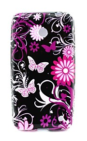 용 노키아 케이스 패턴 케이스 뒷면 커버 케이스 버터플라이 소프트 TPU Nokia Nokia Lumia 630