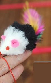 Дразнилки Игрушка с перьями Мышь текстильный Назначение Кошка Игрушка для котов