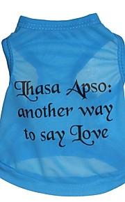 Cat Dog Shirt / T-Shirt Dog Clothes Letter & Number Blue Costume For Pets