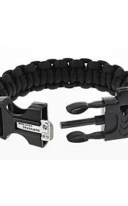 Outdoor Parachute Rope Flint Black Emergency Survival Bracelet