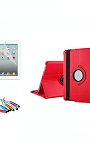 DE JI Case For Apple with Stand / Auto Sleep / Wake / 360° Rotation Full Body Cases Solid Colored Hard PU Leather for iPad Air / iPad 4/3/2 / iPad Mini 3/2/1 / iPad (2017)