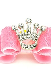 Cat Dog Hair Accessories Hair Bow Dog Clothes Holiday Birthday Tiaras & Crowns Pink Costume For Pets