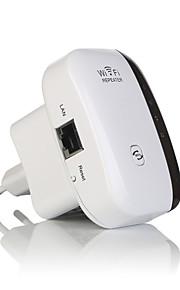 Wireless WiFi repeater signal forstærker 802.11n / b / g Wi-Fi rækkevidde extander 300Mbps signal boostere repetidor wifi WPS-eu
