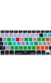 XSKN Logic Pro x 10 genvägen overlay silikon tangentbord skydd för macbook pro luft näthinnan 13 '' 15 '' 17 ''