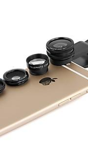 1 배 망원, 어안 렌즈와 매크로 렌즈에 apexel 4& 아이폰 클립 0.65 배 와이드 렌즈 (4) / 5 / 6S / 6S 플러스 (모듬 색상)