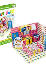 Quebra-Cabeça Brinquedos de Montar Brinquedos Faça Você Mesmo 3D Papel Peças Crianças Dom