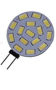 1.5 W 3000-3500/6000-6500 lm G4 LED Σποτάκια MR11 15 LED χάντρες SMD 5730 Διακοσμητικό Θερμό Λευκό Ψυχρό Λευκό 12 V 24 V / 1 τμχ / RoHs