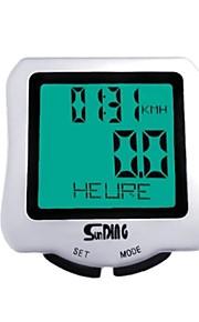 Waterproof Multifunction Sunding  Wired Bike Bicycle Computer LCD Backlight Odometer Speedometer(Ramdon Color)