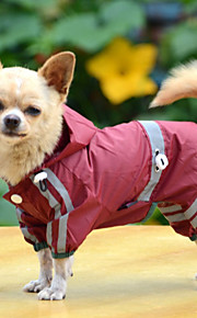 Dog Rain Coat Dog Clothes Waterproof Solid Yellow Red Green Costume For Pets