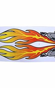 Car Auto Horse Flame Pattern Decal 2D Sticker Ornament 2 Pcs
