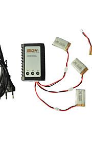 exploradores partes x5C-11 3.7v 650mAh lipo bateria 3 em 1 cabo linha X 5pcs w carregador / b3 syma x5C / 1 x5C-