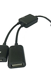 micro USB host OTG kabel& USB Power opladning til Samsung Galaxy S3 / S4 / note 3