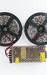 Lyssett 600 LED Varm hvit Hvit Kuttbar Selvklebende Passer for kjøretøy Koblingsbar 100-240V