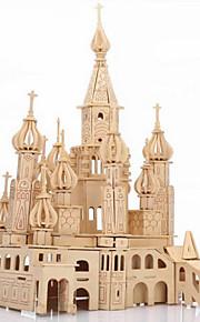Quebra-Cabeças 3D Quebra-Cabeça Quebra-Cabeças de Madeira Brinquedos Castelo Construções Famosas Arquitetura 3D Simulação Peças