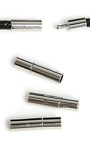 Hole Size 3mm Rodium 10Pcs Smykker