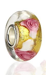 Blomstformet Rose Glas Perler Europæisk Smykker For