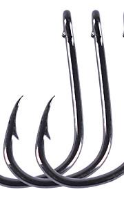 100 pcs خطاف أبريدين خطافات صيد الأسماك على شكل إبرة / مسمار شنق رقيقة / شوكة متقوس الصيد البحري / صيد الأسماك في المياه العذبة / الصيد العام الكربون الصلب سهلة الاستخدام