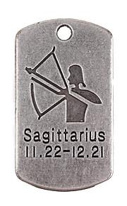 10stk nye legering dele tolv konstellation Sagittarius firkantede tilbehør