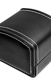 PU Læder ægte læder Urrem Strap Sort 20cm / 7.9 Tommer 2cm / 0.8 Tommer