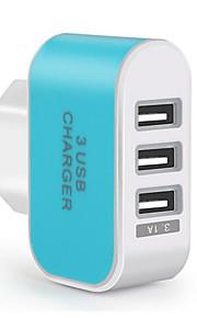 Portable Charger USB Charger EU Plug Multi Ports 3 USB Ports 3.1 A for