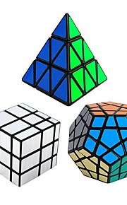 Rubiks terning 3 stk Shengshou Pyraminx Alien MegaMinx Spejlterning 3*3*3 Let Glidende Speedcube Magiske terninger Puslespil Terning