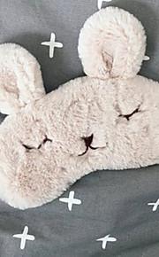 Máscara de Dormir Descanso em Viagens para Unisexo Descanso em Viagens Tecido-Branco Preto Bege Rosa claro Preto/Amarelo
