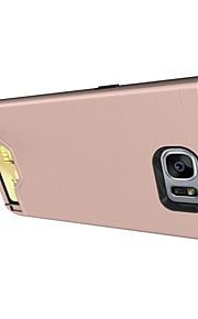 fodral Till Samsung Galaxy S8 Plus S8 Korthållare med stativ Skal Ensfärgat Hårt PC för S8 Plus S8 S7 edge S7