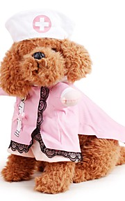Dog Pet Cat 3D Clothes Halloween Cosplay Playing Costumes Nurse For Puppy Kitten Clothes for Doggy Kitty